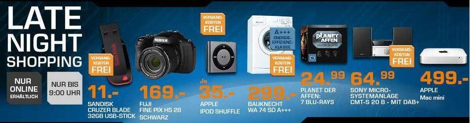 saturn5 APPLE Mac mini 2,5 GHz ab 499€   BAUKNECHT WA 74 Waschmaschine für 299€   und mehr Saturn Late Night Sale Angebote