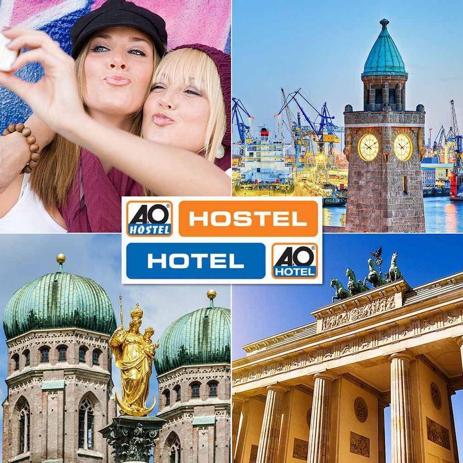A&O TO GO Hotelgutschein (2 Personen, 2 Übernachtungen inkl. Frühstück) für Hotels in 17 Städten nur 89€