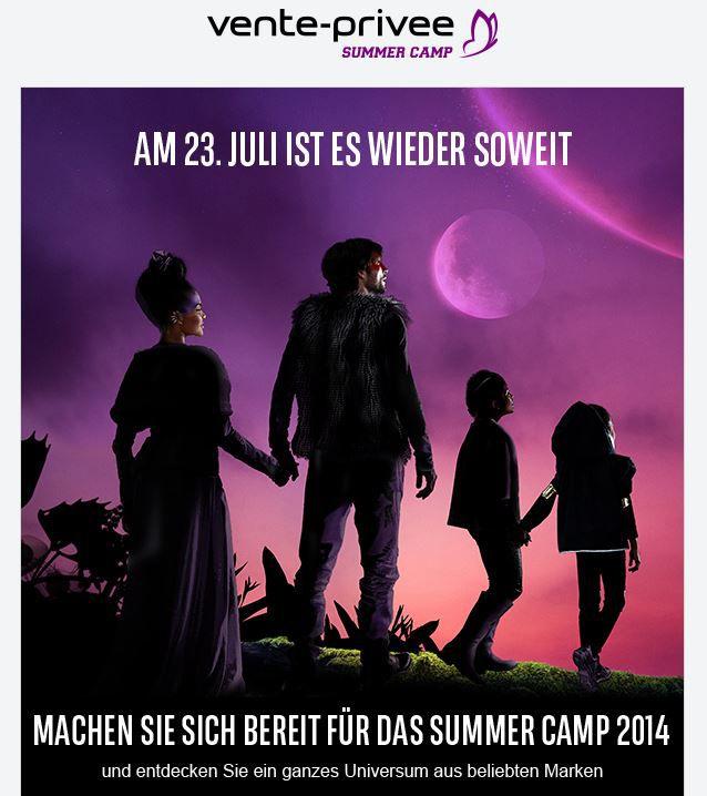 vente Vente Privee Sommer Camp 2014   Schlussverkauf mit fetten Rabatten ab heute