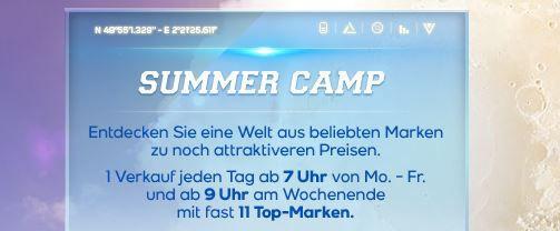 Vente Privee Sommer Camp 2014   Schlussverkauf am Samstag