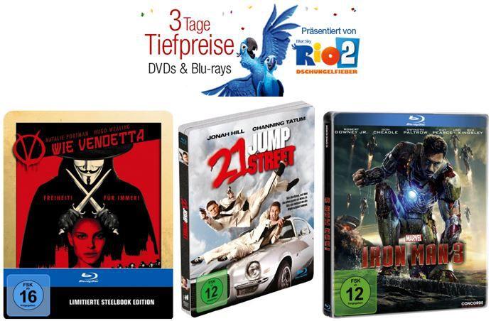 Blu ray Steelbooks zum Aktionspreis und mehr Amazon DVD und Blu ray Angebote