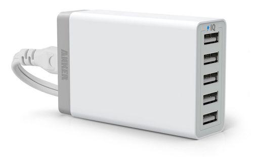 Anker 5 Port USB Ladegerät Anker 5 Port USB Ladegerät (40W 5V / 8A) mit PowerIQ Technologie ab 16,99€