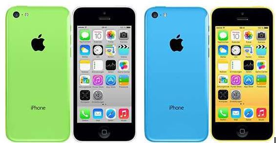 Apple iPhone Apple iPhone 5c   Smartphone in grün, blau oder weiß mit 8GB für 289€   Update