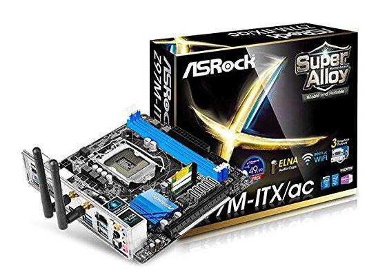 Preisfehler? Asrock Z97M ITX/AC S1150 Mainboard Sockel (mini ITX, Intel Z97, 2x DDR3 Speicher, 6x SATA III, 2x USB 3.0) für 54€ (statt 105€)