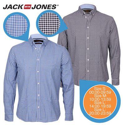 2 Stück Jack & Jones Herrenhemden aus 100% Baumwolle für 30,90€