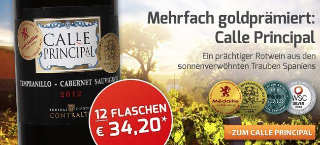 12 Flaschen Calle Principal Rotwein für 30,70€