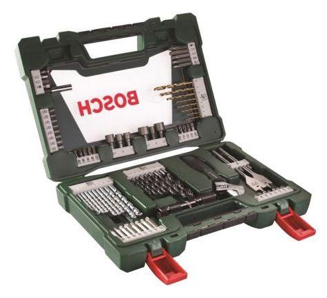 Bosch 83 tlg. TiN Bohrer  und Bit Set mit LED Taschenlampe und Rollgabeschlüssel für 19,99€