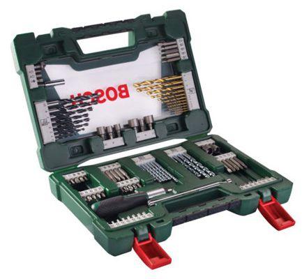 Bosch TiN Bohrer Bit Bosch 91 tlg. TiN Bohrer  und Bit Set mit Ratsche und Magnetstab für 29,95€