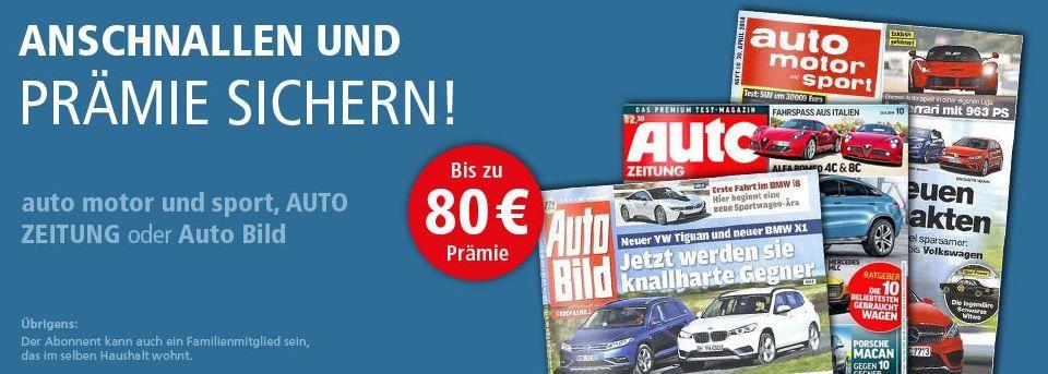 auto motor und sport, AUTO ZEITUNG oder Auto Bild im Jahresabo günstig ab 7,60€   Update!