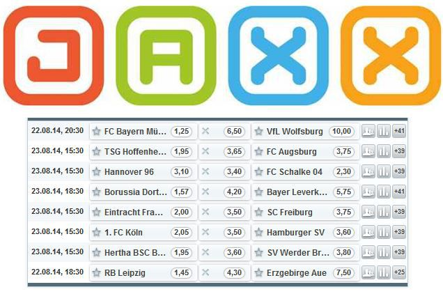 Top! 5€ Gratiswette zum Bundesliga Start bei JAXX.com