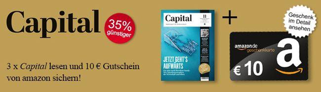 Capital Abo 4 Ausgaben der Capital für effektive 4,70€ dank 10€ Amazon Gutschein