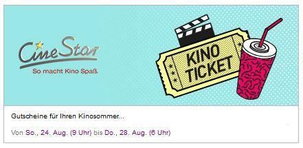 Cine Star CineStar Kinogutscheine + Popcorn bei Vente Privee