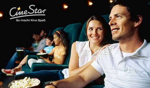 CineStar Gutschein CineStar Kinogutschein für alle Platzkategorien + Popcorn für 7€