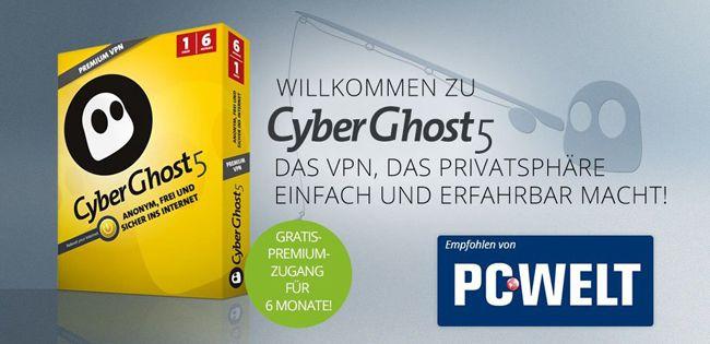 TOP! CyberGhost 5 VPN 3 Monate komplett kostenlos