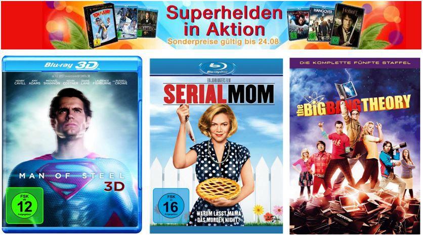 Superhelden Aktion und mehr Amazon DVD und Blu ray Angebote