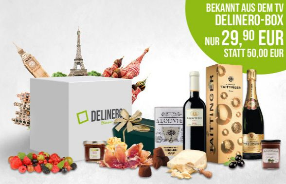 Delinero 20€ Delinero Gutschein mit 35€ MBW   günstige Feinkost online bestellen