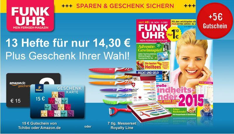 FUNK UHR   TV Zeitschrift Abo mit effektiv 5,70€ Gewinn   Hammer!