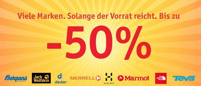 Globetrotter Sale Großer Sale bei Globetrotter mit bis zu 50% Rabatt auf Herbst  und Winterkleidung