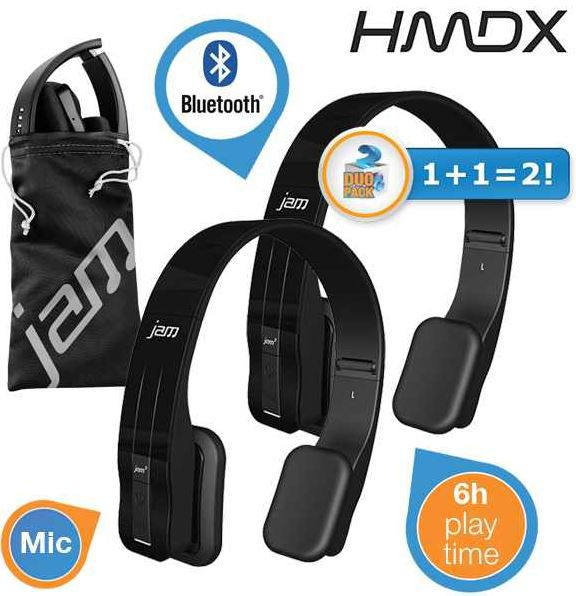 HMDX Jam Fusion   Doppelpack On Ear bluetooth Kopfhörer für 45,90€   Update