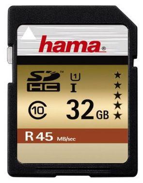 Hama Class 10 SDHC 32GB Speicherkarte (UHS I, 45Mbps) ab 14,99€ (statt 20,50€)