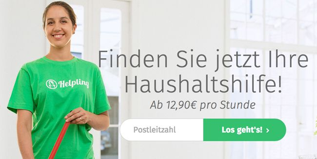 Helping Putzhilfe Helpling Gutschein für 1 Stunde gratis Haushaltshilfe