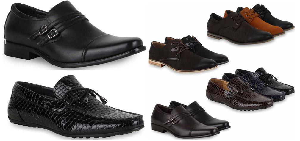 Herren Schuhe Herren Halbschuhe, Schnürer & Slipper Lederoptik für je Paar 19,90€