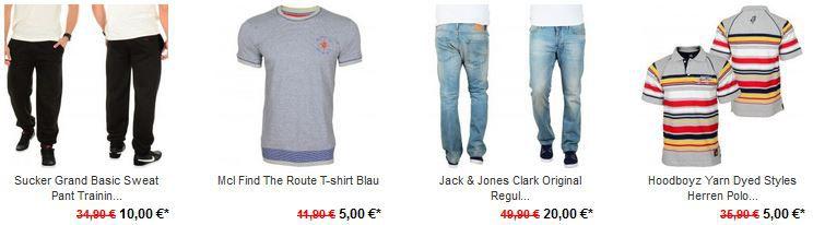 Jack & Jones, Hoodboyz, Sucker Grand und MCL Sportsware im X EURO Sale von 5 bis 30€   Update!