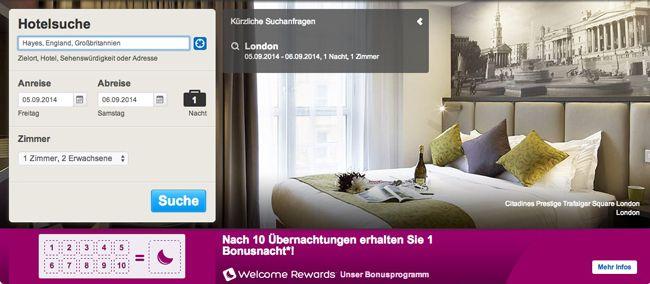 11% Gutschein für Hotels.com ohne Mindestbuchungswert