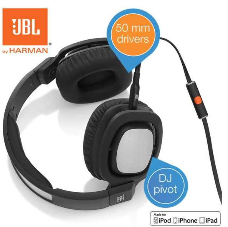 JBL1 JBL Harman J88i   Premium Over Ear Kopfhörer mit DJ Pivot Ohrmuscheln für 45,90€