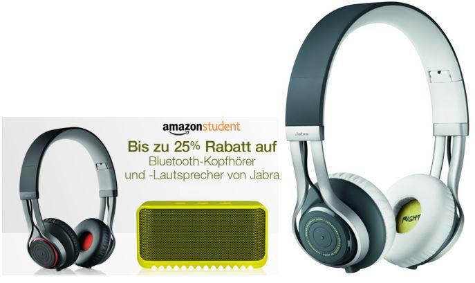 Jabra Revo Bluetooth Kopfhörer oder Solemate Lautsprecher bis zu 25% Rabatt für Amazon Prime Student Mitglieder