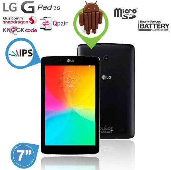 LG G PAD 7.0    7,0 IPS Tablet mit 1,2 GHz Quad Core Prozessor für 102€
