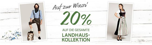 C&A: 20% Rabatt auf die aktuelle Landhaus Kollektion   Dirndl, Lederhosen und mehr