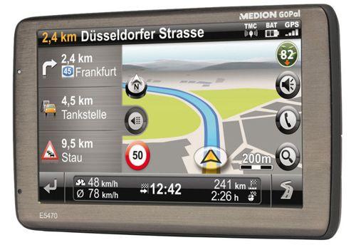 MEDION E5470 Navigationssystem Medion GoPal E5470 Navigationssystem (5 Zoll, Europa Karten, Bluetooth, B Ware) für 79,99€