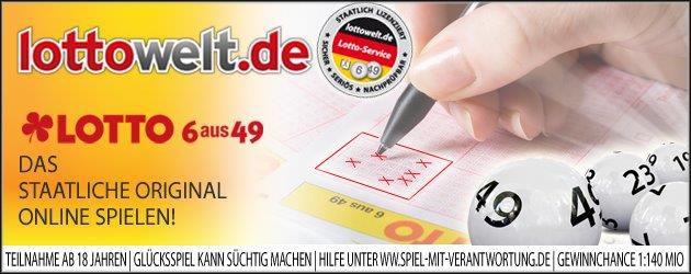 Gratis Lotto spielen: 5€ Guthaben für Lottowelt Neukunden ohne MBW