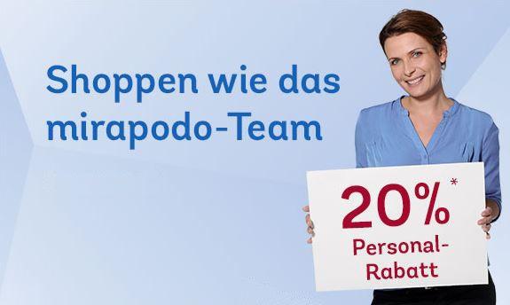 Mirapodo Sale mit bis 70% Rabatt + 20% Gutschein mit nur 39€ MBW   Update