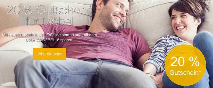 Moebel eBay 20% Rabatt auf Möbel bei eBay mit Paypal Zahlung