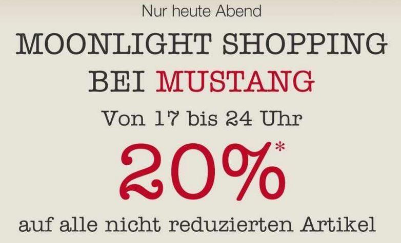 MUSTANG Moonlight Shopping mit 20% Rabatt auf (fast) alles bis Mitternacht!