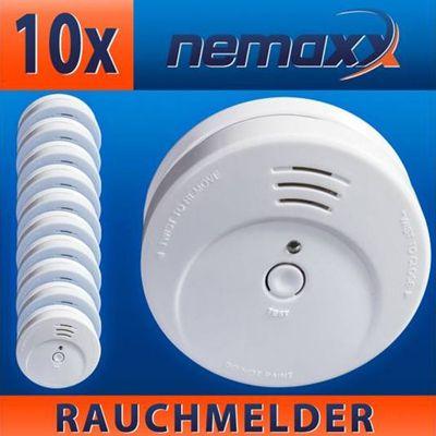 Nemaxx FL2 VdS Rauchmelder im 10er Pack für 39,99€