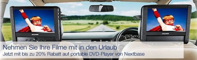Nextbase DVD Player Portable DVD Player von NextBase zu guten Preisen dank 20% Rabatt bei Amazon