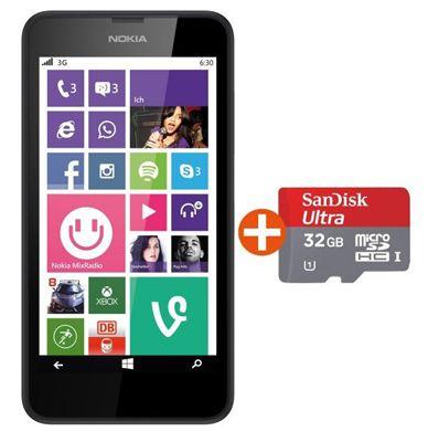Nokia Lumia 635 LTE Nokia Lumia 635 LTE Windows Phone 8.1 + 32GB microSDHC Speicherkarte für 149€