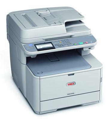 OKI MC332dn   Farblaser Multifunktionsgerät (A4, 3 in 1, Drucker, Kopierer, Scanner, Duplex, Netzwerk, USB, ADF) für 186€