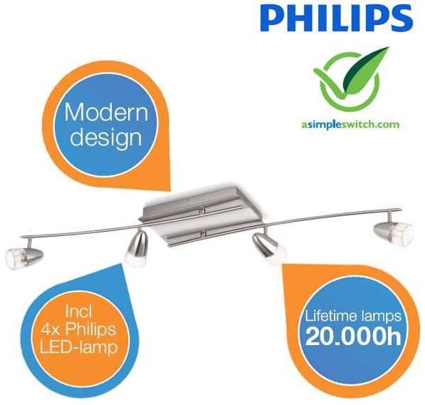 Philips 40738/17/16   InStyle Deckenleuchte statt 299€ für 128,90€
