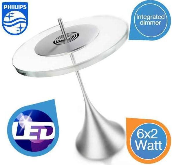 Philips Ledino Vidro Tischlampe   6 dimmbare LEDs statt 193€ für 105,90€