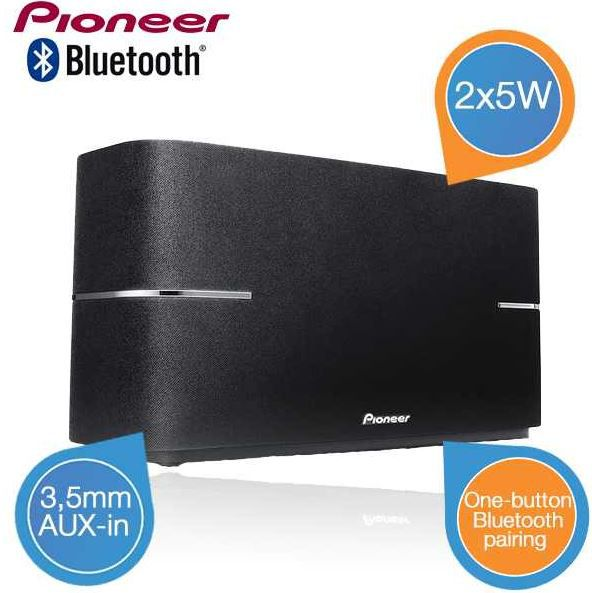 Pioneer Pioneer XW BTS1 K   Bluetooth Lautsprecher mit 2x5W für 35,90€ inkl. Versand