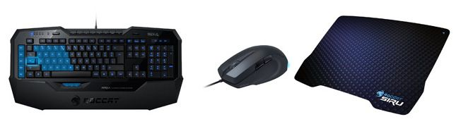 Roccat Gaming Bundle TOP! Roccat Gaming Bundle für 78€ statt 136€   Isku Tastatur, Savu Maus und Siru Mousepad