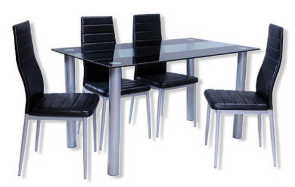 Roller Esstischgruppe CINDY Roller Esstischgruppe CINDY   1 Tisch & 4 Stühle für 119€ (statt 150€)