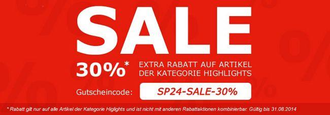 SP24 Rabatt 30% Extra Rabatt auf ausgewählte Ware bei SP24   z.B. Adidas Adistar Raven 3 Schuhe für 58€ statt 80€