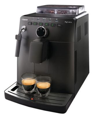 Saeco HD 875011 Saeco HD 8750/11 Intuita Kaffee Vollautomat (Kaffee, Espresso, Espresso Lungo) für 199,99€