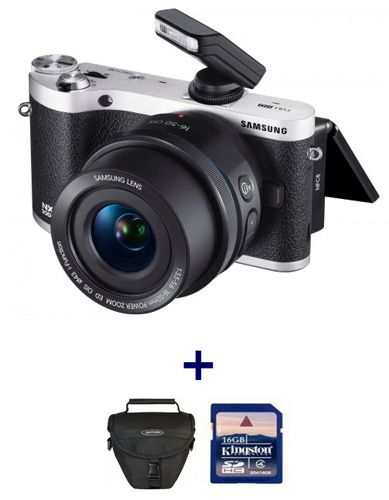Samsung NX300M Kamera + 16 50mm Objektiv, Tasche und 16GB Speicherkarte für 379€ (statt 448€)