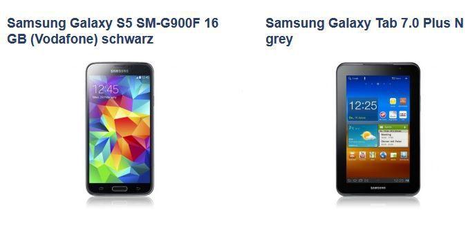 Vodafone All Net Smart XL inkl. Top Smartphone wie Samsung S5 oder HTC One M8 & Tablet für nur 39,99€montl.